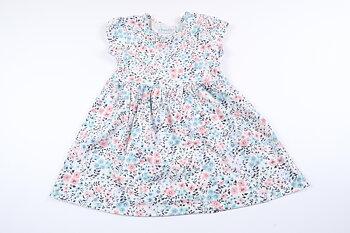 Blommig kortärmad klänning från Primark i storlek 86