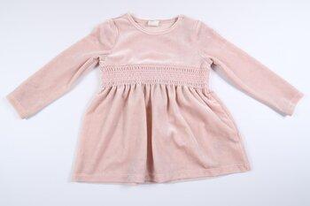 Rosa klänning i velour/sammet från H&M i storlek 80