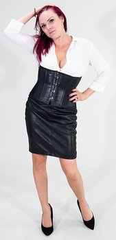 Underbust Corset T-shirt model