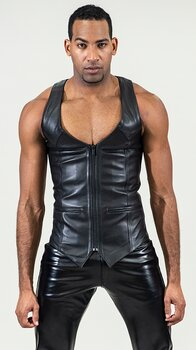 Leather  corset vest