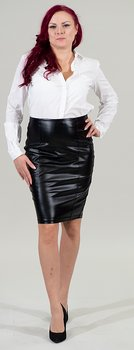 Corset pencil-skirt  PU leather.