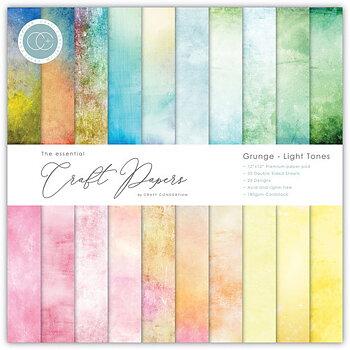 """Grunge Light Tones, 6x6"""" block, Essential Craft Papers,  Craft Consortium"""
