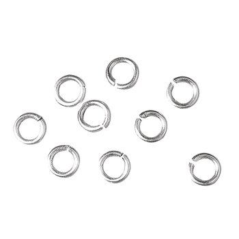 Silver, Jump ring, 40st, ø 10mm, Rayher