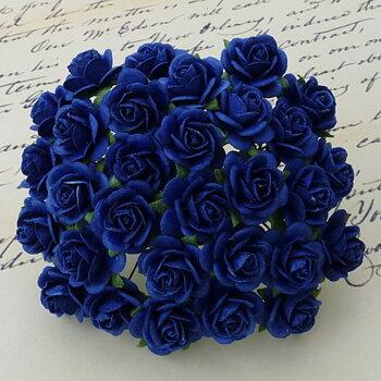 Kungsblå, Öppen ros, 10st, Mullbärspapper,