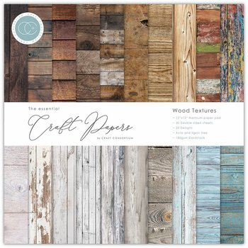 "Wood Textures,12x12"" block, Essential Craft Papers,  Craft Consortium"