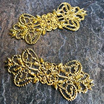 Metalldekoration, Guld, 6st,
