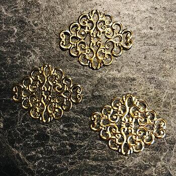 Metalldekoration, Guld, 10st,