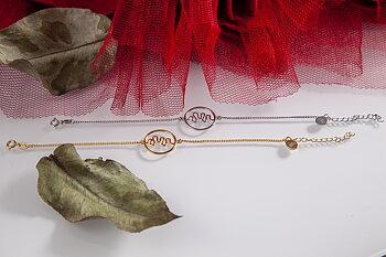 Hjärnvåg av kärlek - Armband. Rhodiumpläterad 925 silver