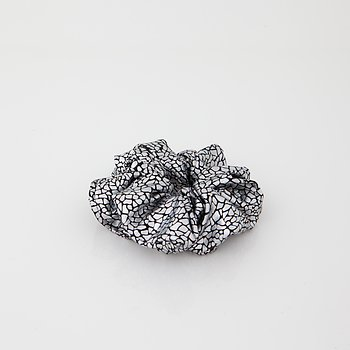 Scrunchie Metallic Silver