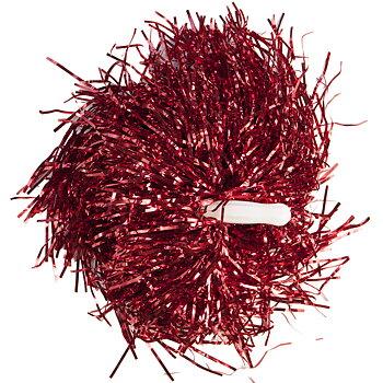 Pom Pom Stick Metallic Röd