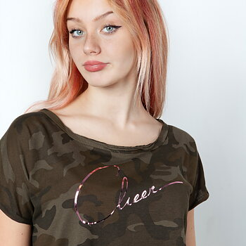 T-Shirt Military Green Cheer