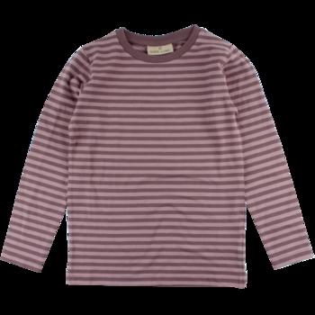 Randig tröja Nordic Label plommon