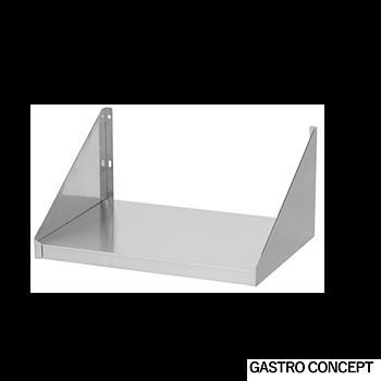 Vägghylla microvågsugn, 520 mm djup, rostfritt