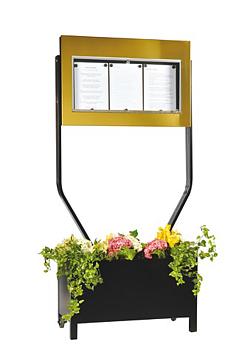 Menyskåp Bourgogne Blomlåda - 3x A4