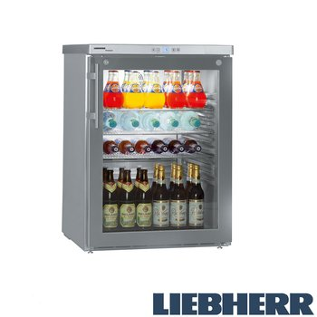 Kylskåp glasdörr, 141 liter