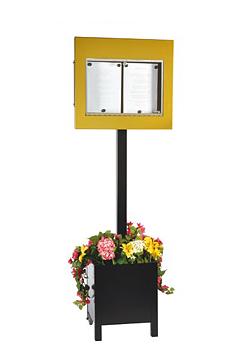 Menyskåp Bourgogne Blomlåda - 2x A4