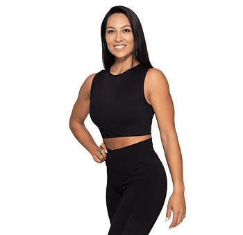 Roxy Seamless Top- Black/Dark Navy