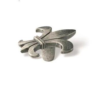 Knopp, Fransk lilja, svart antik