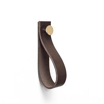 Handdukshängare Svedala (Läder brun & mässing)