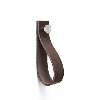 Handdukshängare Svedala (Läder brun & nickel)