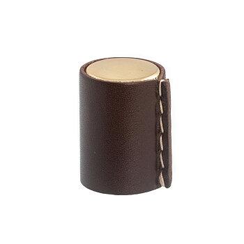 Knopp Hörby  mattborstad mässing / läder