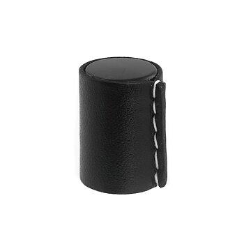 Knopp Hörby matt svart/ läder