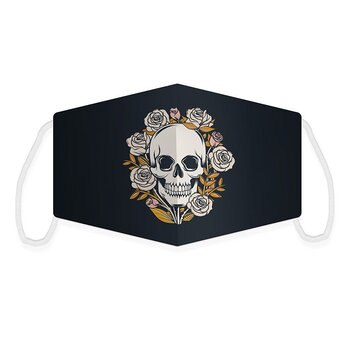 Munskydd Skull and roses