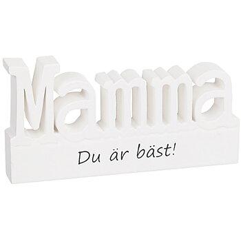 Stående bokstäver i trä - Mamma