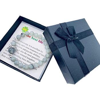 Armband med ängel och ädelstenar - Labradorite