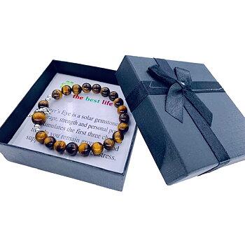 Armband med ängel och ädelstenar - Tigereye