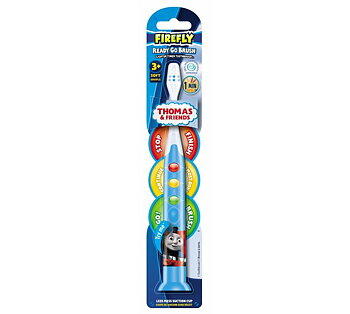 Thomas Firefly blå tannbørste. Klar, Fortsett, Stopp timer