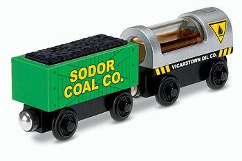 Olje og kullvogner (tretog)