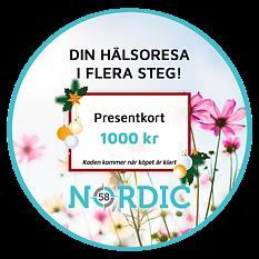 Nordic58 Hälsopresentkort