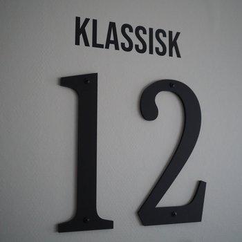 Fasadsiffra KLASSISK Synlig fastsättning