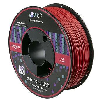 StrongHold PLA filament (1.75mm, 1Kg) — Körsbärsröd