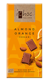 Rischoklad Almond Orange 80g x10, EKO
