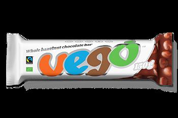 Vego Chokladbar (hela nötter) 150g x30, EKO FT