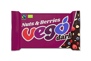 Vego Dark Nuts & Berries 85g x12, EKO FT