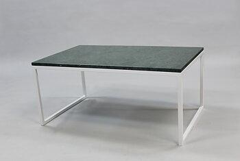 Marmorbord, grön 100x60x45 cm, vitt underrede halvkub