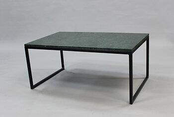 Marmorbord, grön 100x60x45 cm, svart underrede halvkub