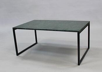 Marmorbord, grön 100x60x45 cm, svart underrede svävande