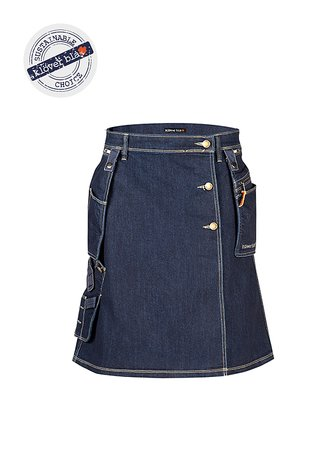 Dallas Denim Worker Kilt - unisex work kilt
