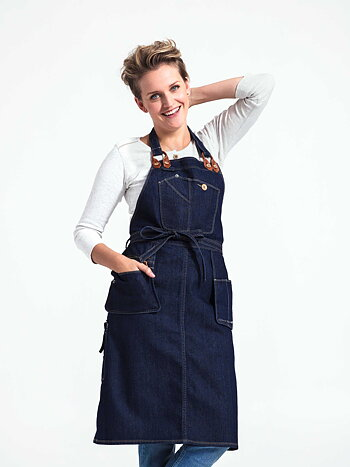 Brooklyn denim apron – esiliina denimiä