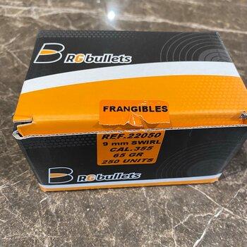 RG BULLETS 9MM 65gr SKRUVAD FRANGIBLE