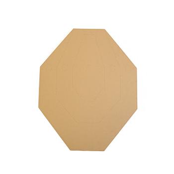 Cardboard IPSC Target TAN/WHITE - 100pcs./pack