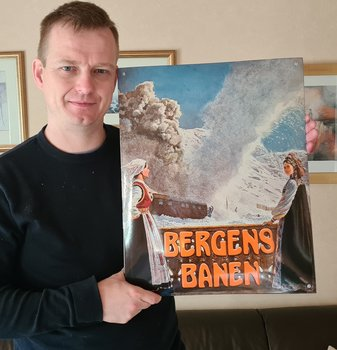 Emaljeskilt: Bergensenbanen