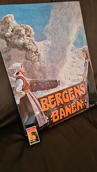 Emaljeskilt: Bergensbanen