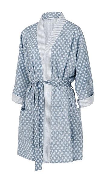 Short Kimono | Cashmere Blue