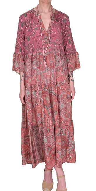 Luna Long Boho Dress   Poetry Rose Mix