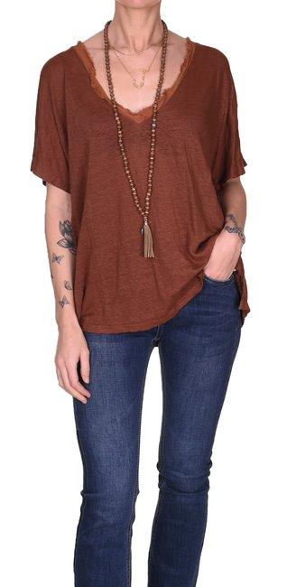 T-shirt Linne Raw | Rost